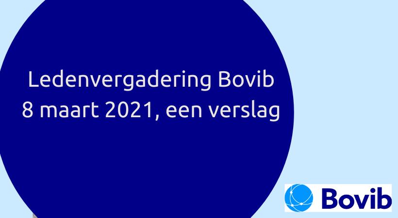 Ledenvergadering Bovib, 8 maart 2021