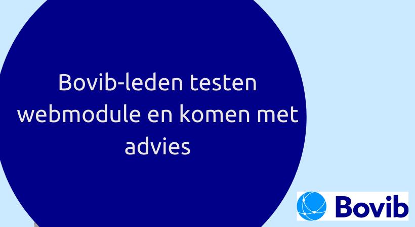 Bovib-leden testen webmodule en komen met advies